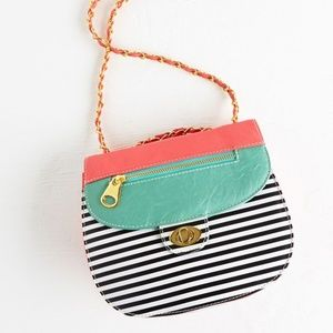 Modcloth Striped Pink Green Cupcake Contest Bag